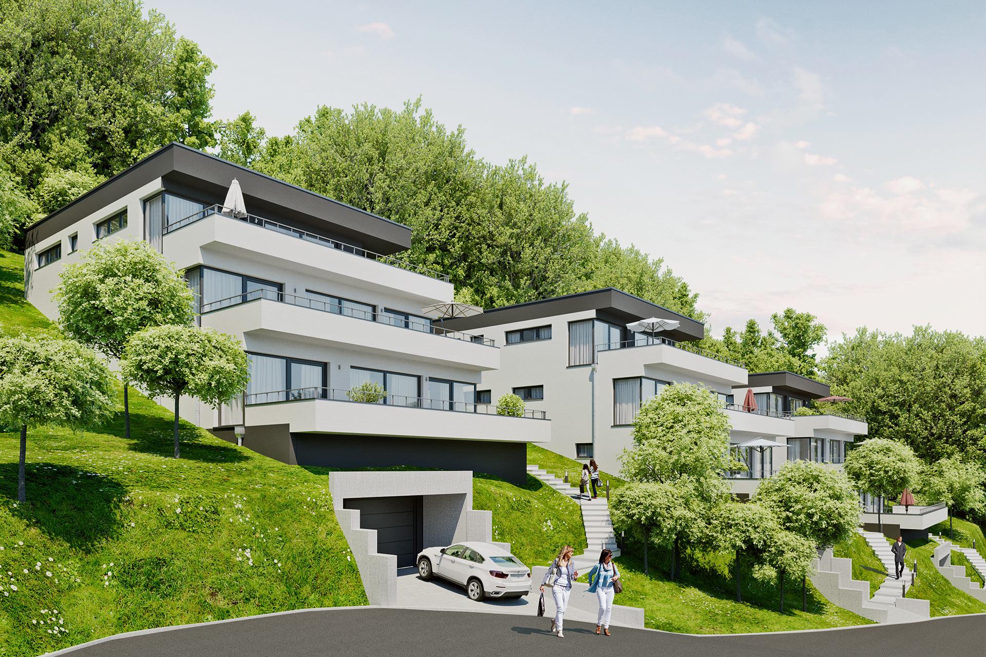 projekt sch nblick terrassen moderne eigentumswohnungen. Black Bedroom Furniture Sets. Home Design Ideas